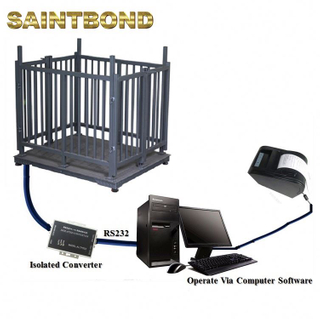 Build your own amazon livestock platform scales for cattle Manufacturers goat football horse animal scale