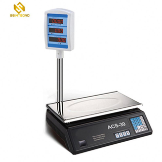 ACS30 40kg Electronic Price Computing Scale With Pole