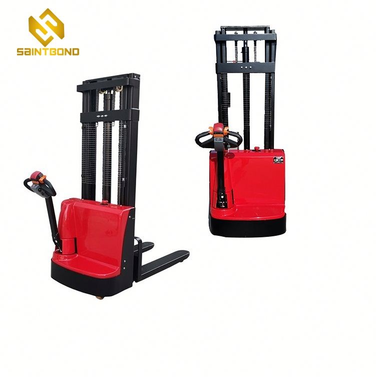 PSES11 2640lbs Capacity Lift height 98inch Electric Walkie Straddle Stacker forklift for US free shipping