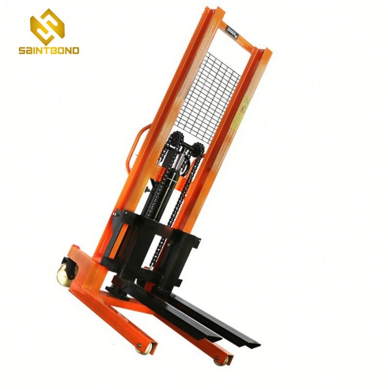 PSCTY02 1 ton 1000kg 2200BL 1.6m hydraulic forklift hyundai manual stacker hand forklift for sale