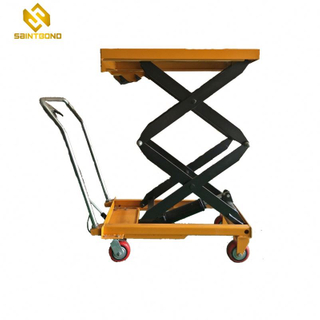 HSL01 Aluminum Mobile Manual Hydraulic Lift Table Handle Height Off The Ground