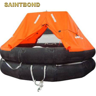 Inflatable material solas small and lightweight compact yachting liferaft cheap life raft iso 6 man