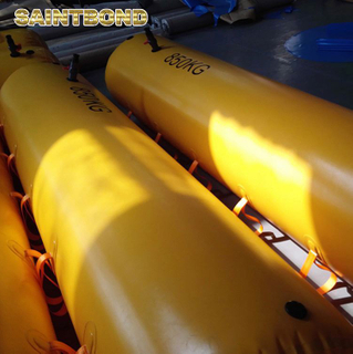 400kg lifeboat load testing water 7.8m davit for life boat pipeline bouyancy bags