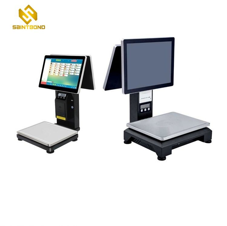 PCC01 pos machine with customer display 15 inch epos till system pos terminal